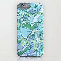 Abstract Animals - Blue and Green  iPhone 6 Slim Case