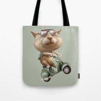 RUNAWAY CAT Tote Bag