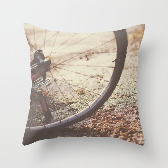 Bike Spokes  Throw Pillow