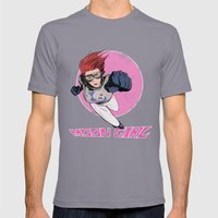 Moon Girl Punch-Out Mens Fitted Tee Slate SMALL