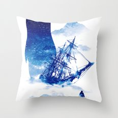 Abandon Ship Throw Pillow