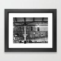Newcastle Central Station, England.  Framed Art Print