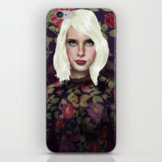 Young Girl and Flowers (Emma Roberts) iPhone & iPod Skin