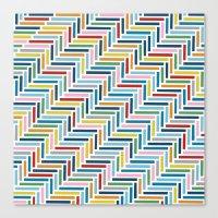 Herringbone 45 Colour Canvas Print