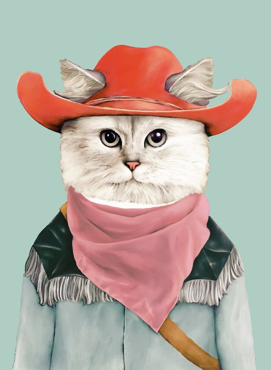 Rodeo Cat Art Print