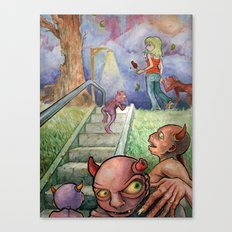 Follow Her Canvas Print