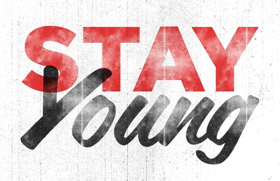 Stay Young Canvas Print