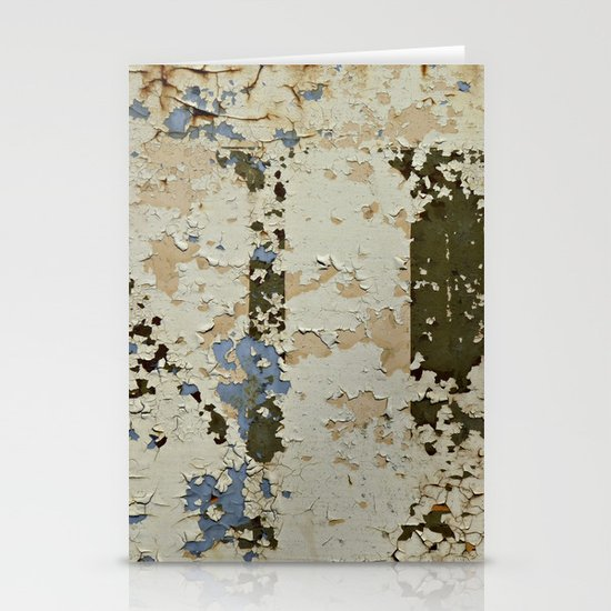 IF a Picture Paints -- Peeling Paint and Rust Texture Abstract Stationery Card