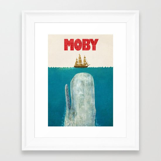 Moby  Framed Art Print