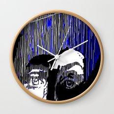 Blue Portrait Wall Clock