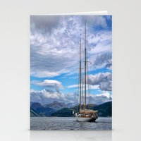 Schooner on the River Clyde Stationery Cards