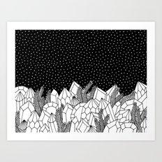 Cosmic Crystals Art Print