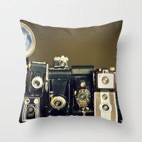 Vintage Camera Collection Throw Pillow