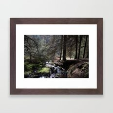 FOREST STREAM Framed Art Print