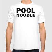 POOL NOODLE Mens Fitted Tee White SMALL