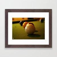 Snookered Framed Art Print