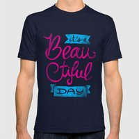 It´s A Beautiful Day Mens Fitted Tee Navy SMALL