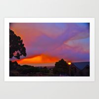 Smoky Sunset Bay Art Print