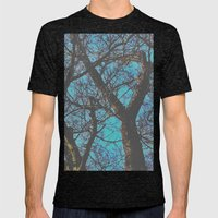 Whispy Tree Mens Fitted Tee Tri-Black SMALL