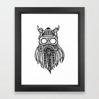 Viking Cat Framed Art Print
