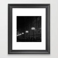 Late Night Lights Framed Art Print