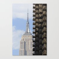 The Old And The New Canvas Print