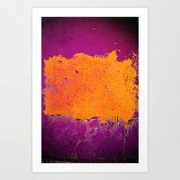 Orange & Purple Art Print