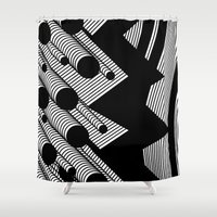 Driving Particles Shower Curtain