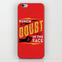 Punch Doubt in the Face! iPhone & iPod Skin