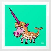 Unicorn In Narwhal Costu… Art Print