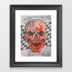 Death Valley Racers Motorcycle Club Framed Art Print