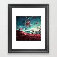 Sunrise Flight On Purple… Framed Art Print