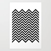 Black Lodge Zig Zag Art Print