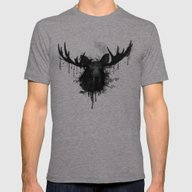Moose Mens Fitted Tee Tri-Grey SMALL