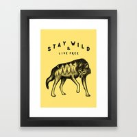 STAY WILD & LIVE FREE Framed Art Print