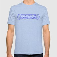 RUE NOTHING WEIGHTS BLUE Mens Fitted Tee Tri-Blue SMALL