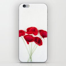 a Bunch Of Red Poppies iPhone & iPod Skin