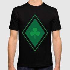 Irish Argyle Mens Fitted Tee Black SMALL