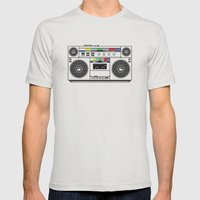 1 kHz #4 Mens Fitted Tee Silver SMALL
