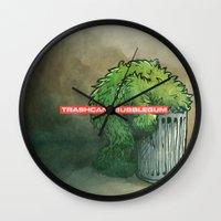 Trashcan : Bubblegum Wall Clock