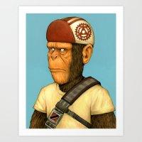 Messenger Monkey Art Print