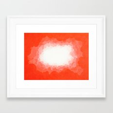 Cadmium Red Clouds Framed Art Print