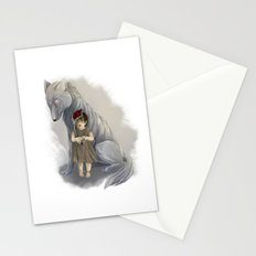 neither human nor wolf Stationery Cards