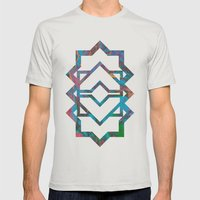 M024 Mens Fitted Tee Silver SMALL