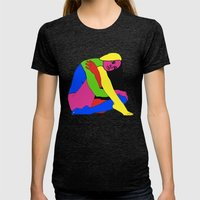 Boxed Gymnast Womens Fitted Tee Tri-Black SMALL