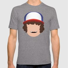 Stranger Things - Dustin Mens Fitted Tee Tri-Grey SMALL