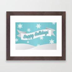 Holiday Snow Framed Art Print