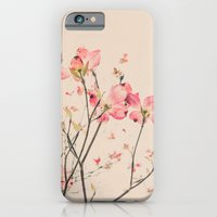 Vintage Spring Botanical, Peaches and Cream -- Pink Dogwood Flowers on Ivory Ground iPhone 6 Slim Case