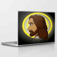 jesus Laptop & iPad Skins featuring Jesus by James Harrington