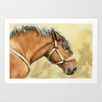 Heavy Horse A055 Art Print